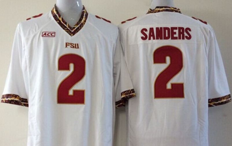 size 40 da2a3 0645d Florida State Seminoles #2 Deion Sanders Throwback Jersey ...