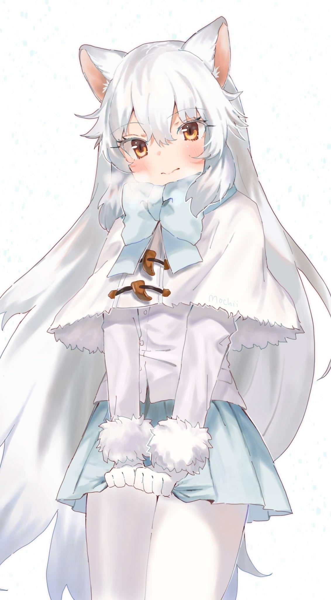 Cute Anime Arctic Fox Girl