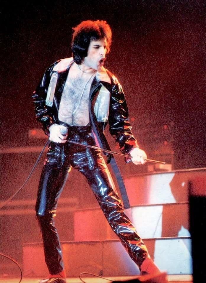 Freddie Live On Stage On The Uk News Of The World Tour In May