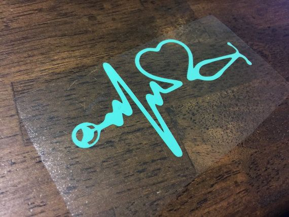 Check out Heartbeat, Stethoscope, Heart decal - Medical Field on gracekinleydesigns