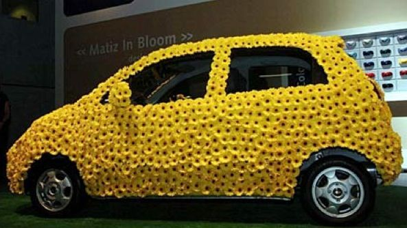 Celebrity Florist Paula Pryke Created A Flower Covered Chevrolet