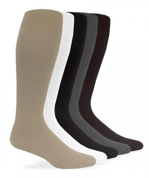 a567c35031dc2 Jefferies Socks Mens Nylon Rib Dress Over the Calf Sock | Made in ...