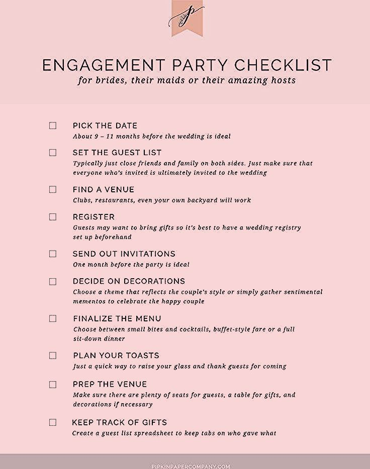 Photo of Engagement Party Checklist | Wedding Planning – Modern