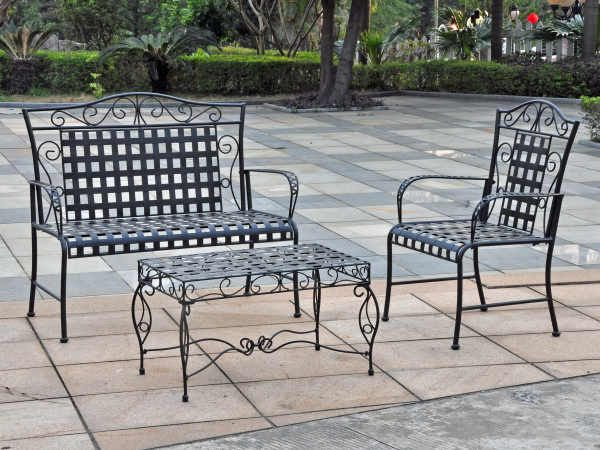 Black Wrought Iron Table And Chair Sets Outdoor Furniture