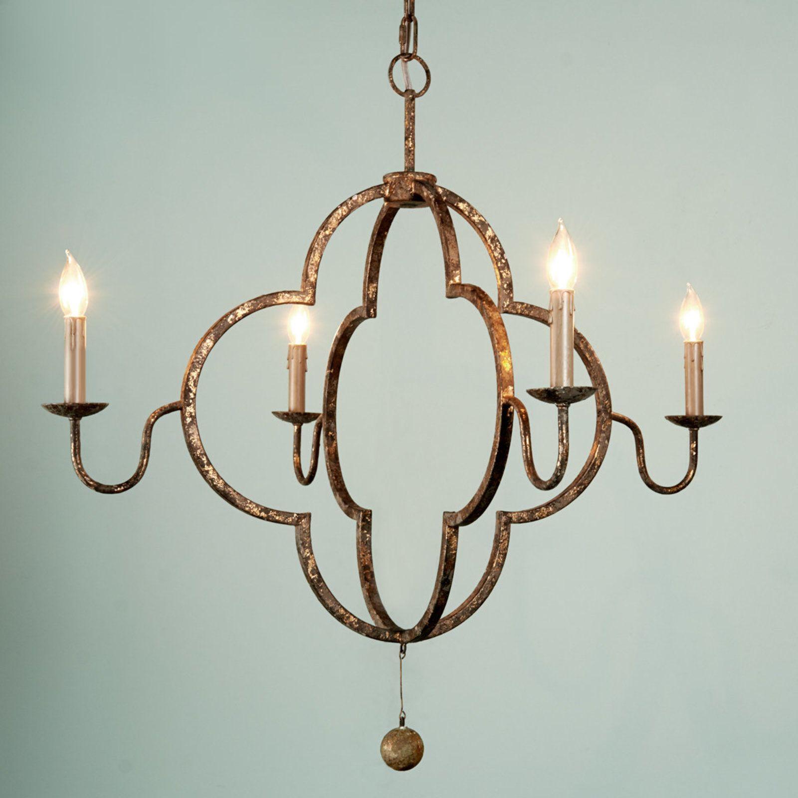 Double quatrefoil chandelier quatrefoil chandeliers and iron double quatrefoil chandelier arubaitofo Choice Image