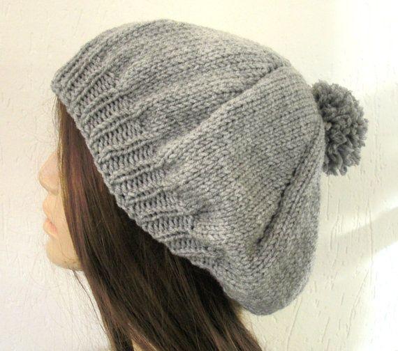 Knit Hat Pattern Hat Knitting Pattern Pdf Hat With Pompom