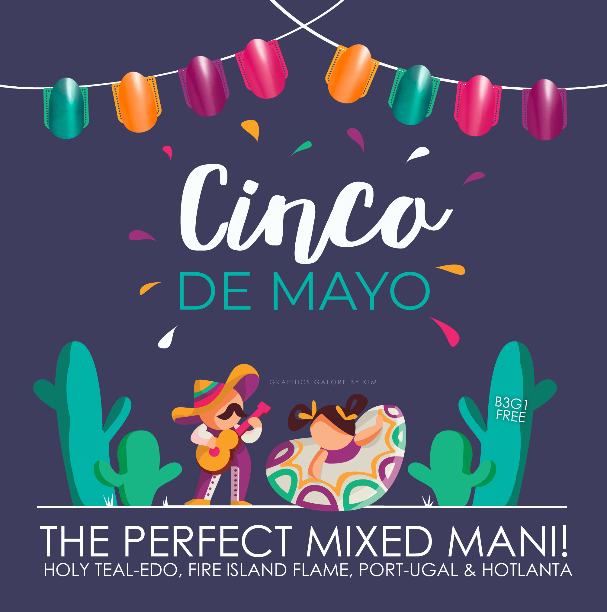 Cinco De Mayo 1 Graphics Galore Cinco De Mayo Color Street Color Street Nails