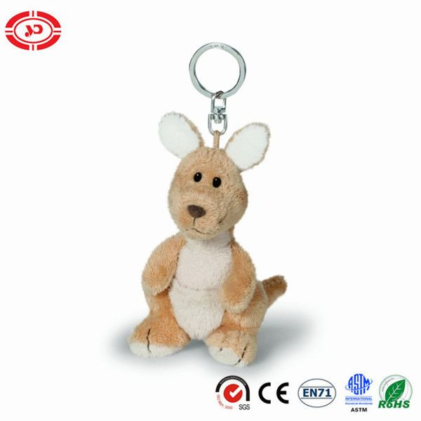 Kangaroo Tiny Plush Soft Stuffed Cute CE Toy Keychain
