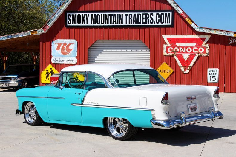 80s two toned dark blue and silver  ford pickups | 1955 Chevrolet Bel Air | Clas…
