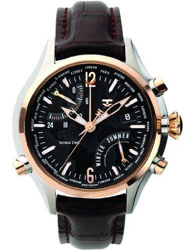 TX Uhren TX 500 Series T3B831 - Reloj analógico de caballero de cuarzo con correa de acero inoxidable marrón - sumergible a 100 metros-PREFERIDO