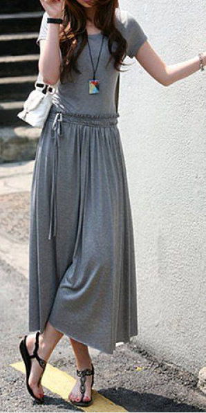easy jersey dress. So pretty and comfy looking