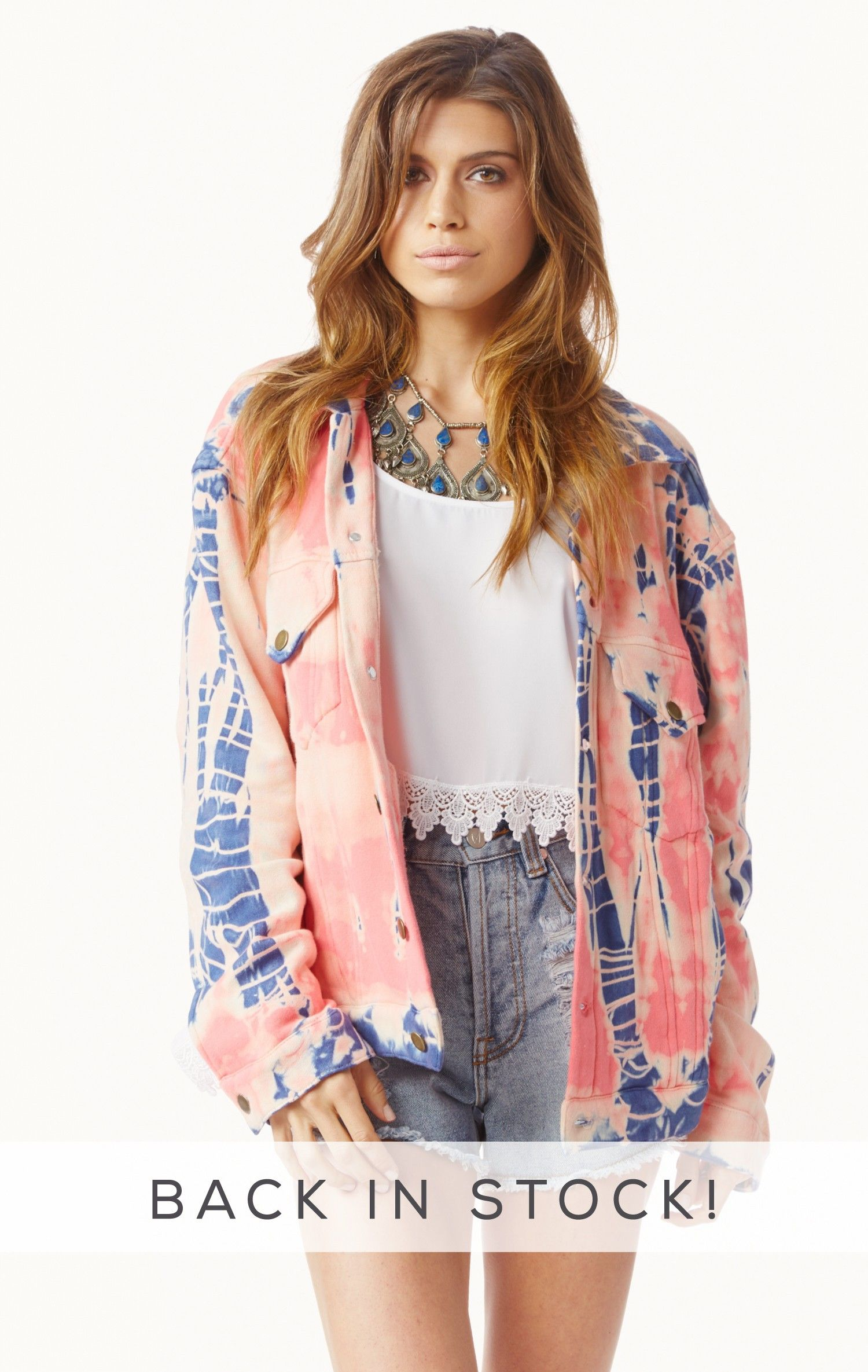 Tie dye fleece jean jacket jackets products and dye jeans