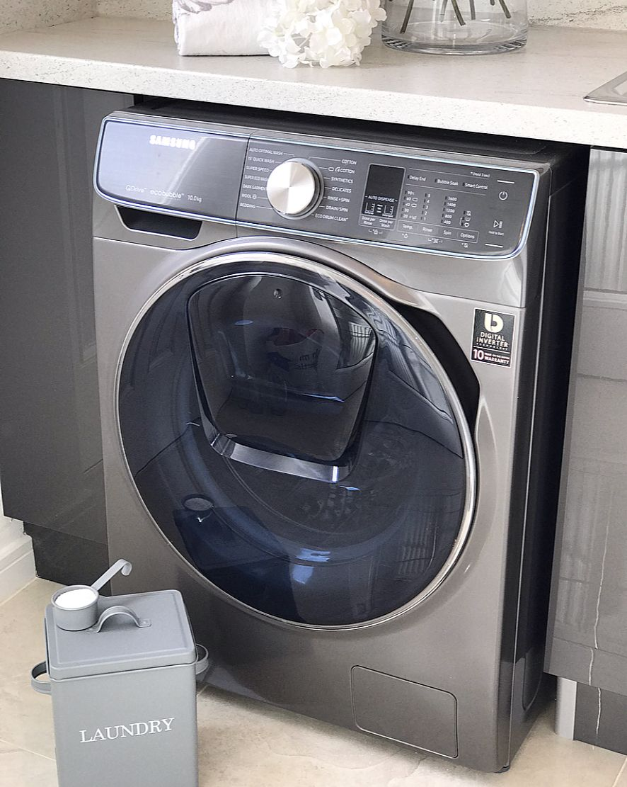 Create A Sleek And Stylish Laundry Room With Samsung