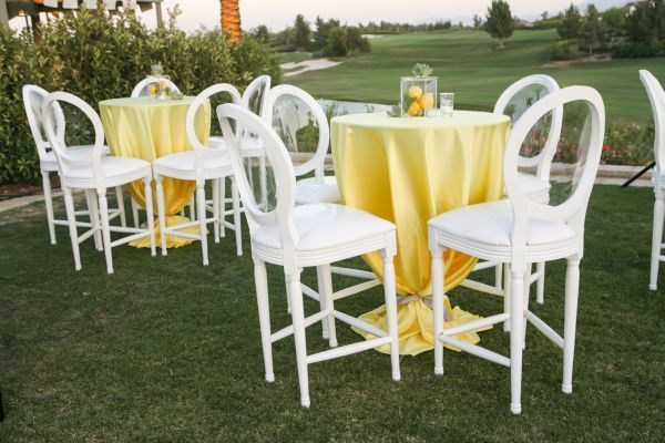 Lemon Yellow Palm Springs Wedding