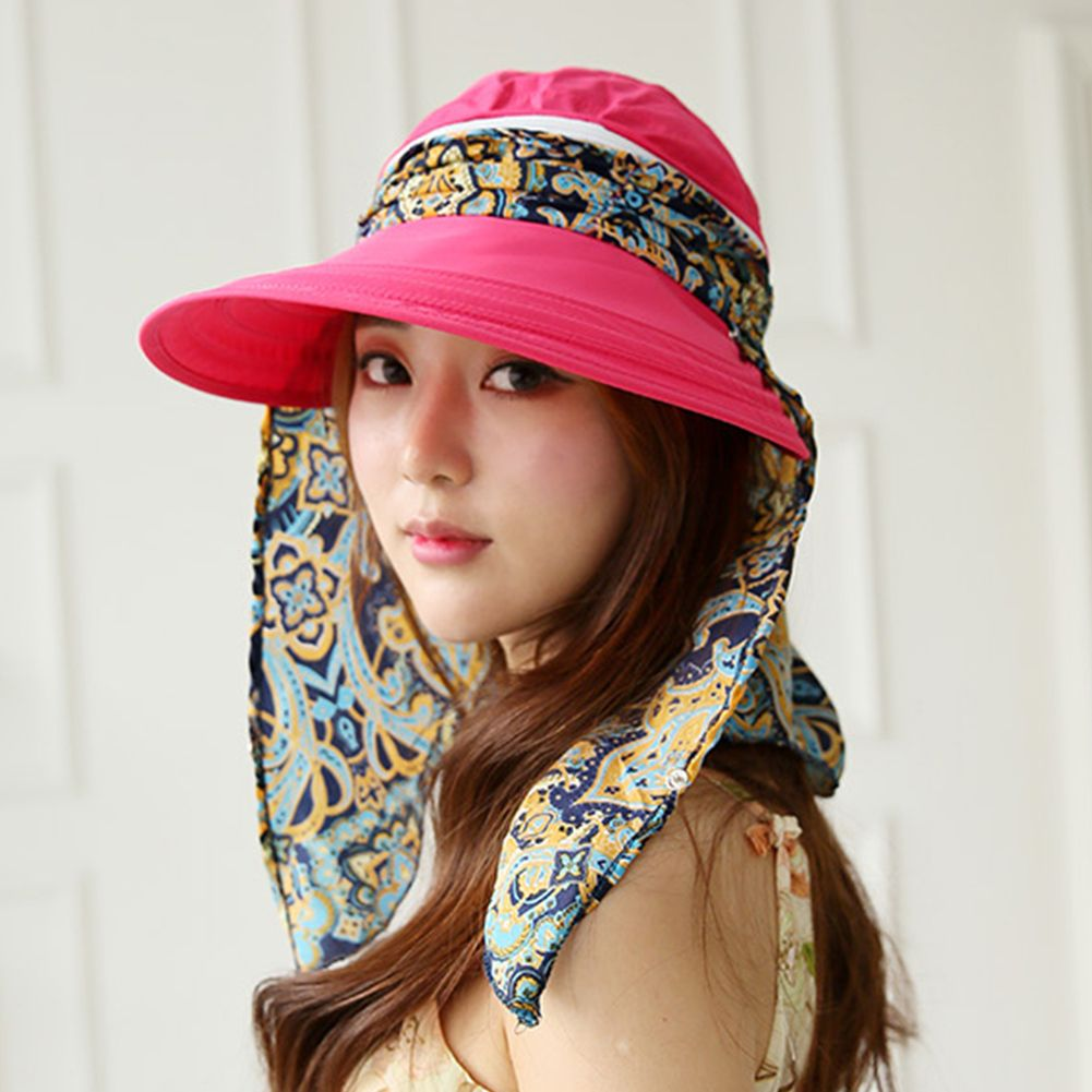 b61c90868d7 Women detachable top neck cover mask sun visor cap rose pink solo jpg  1001x1001 Sun mask