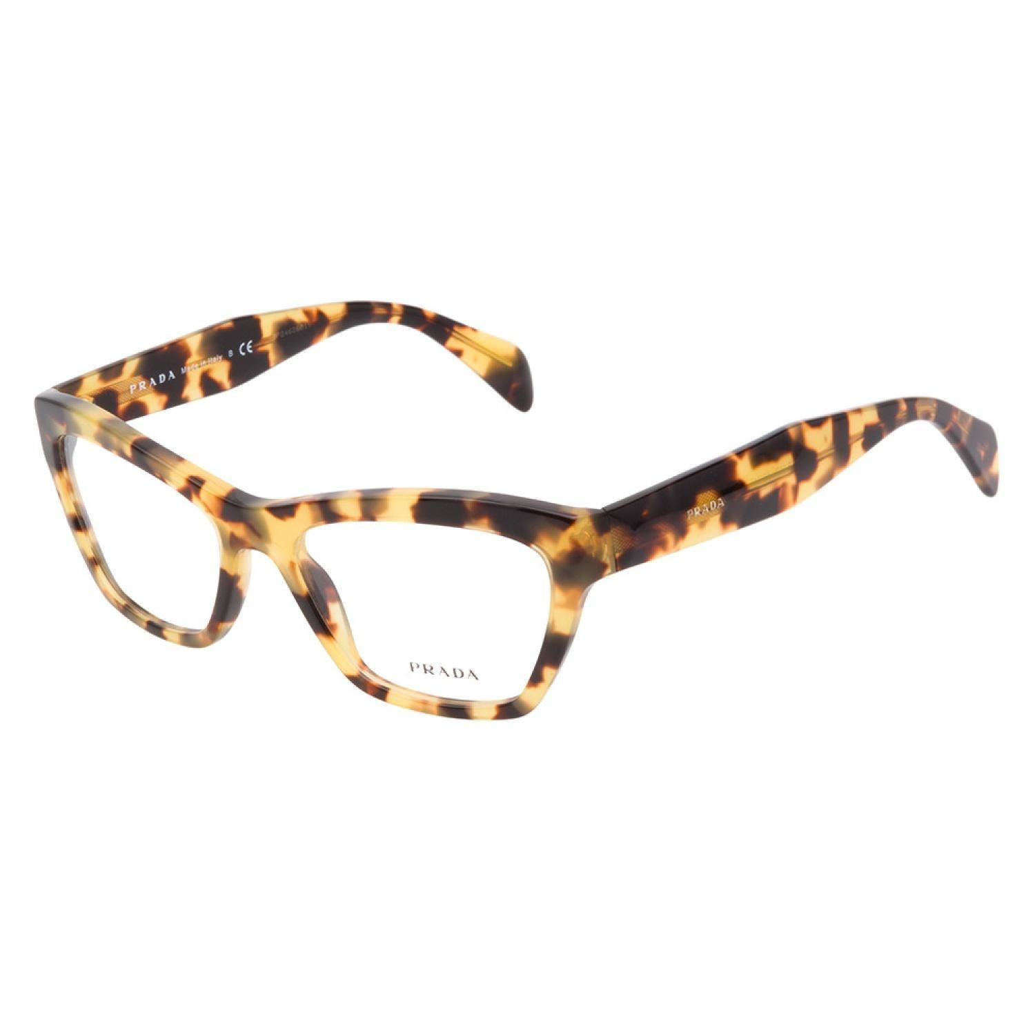 156089ac5d4c Prada VPR14Q 7S01O1 eyeglasses blend trendy, thick tortoiseshell with a  cateye shape for a glamorous and contemporary look ideal versatile enough  for 199.00