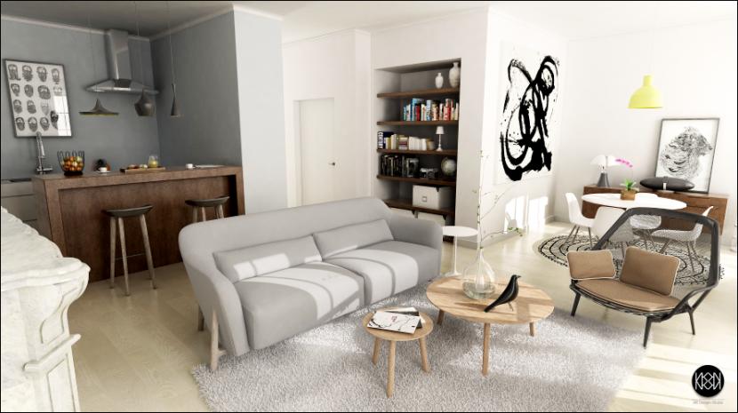 am nagement t3 carr haussmann montpellier nkdsmtp nkdesignstudio 3d interieur amenagement. Black Bedroom Furniture Sets. Home Design Ideas