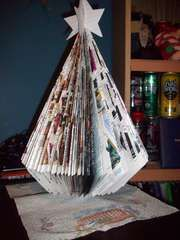 Christmas Tree From A Magazine Retro Christmas Tree Christmas Ornaments To Make How To Make Christmas Tree