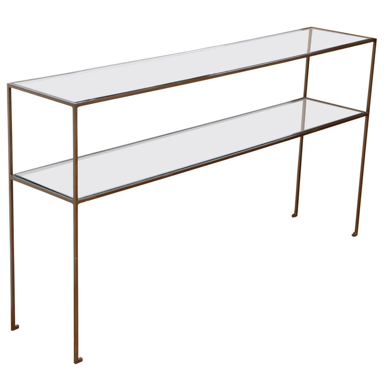 Two Tier Glass Console 1stdibs Com Cool Furniture Furniture Vintage Table