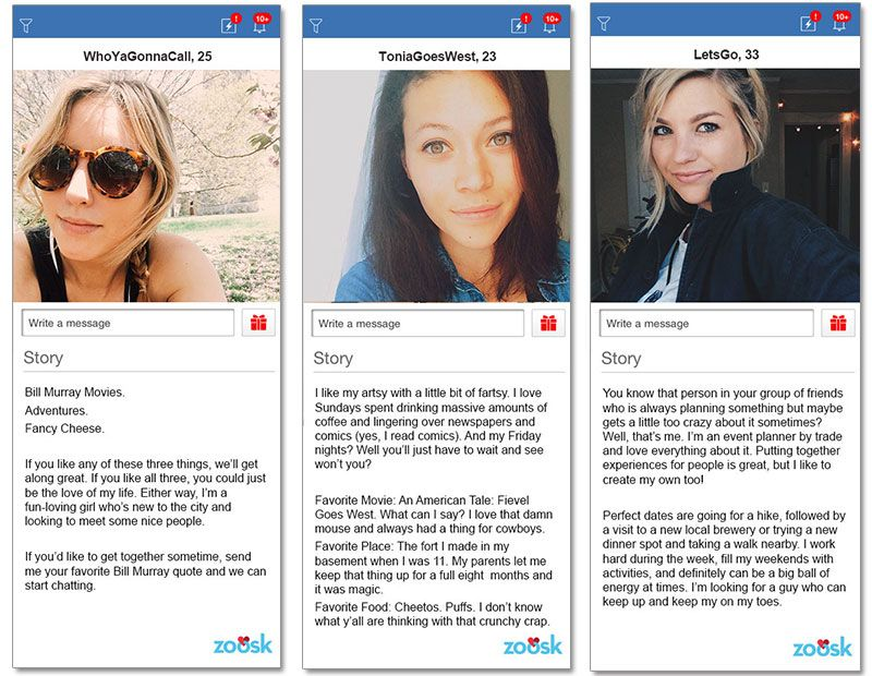 The best female online dating profiles