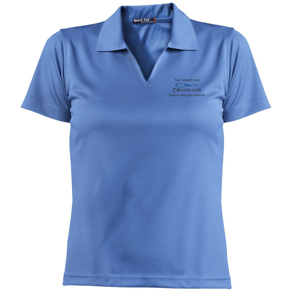 Embroidered Ladies Dri-Mesh Short Sleeve Polos- Contact fykwear for wholesale pricing