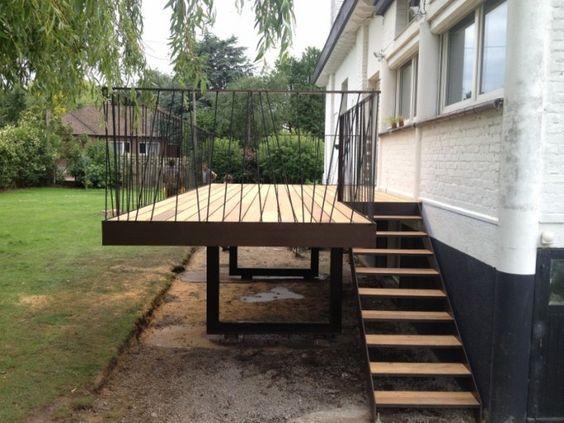 Bekijk de originele afbeelding Geländer Pinterest - terrassen gelander design