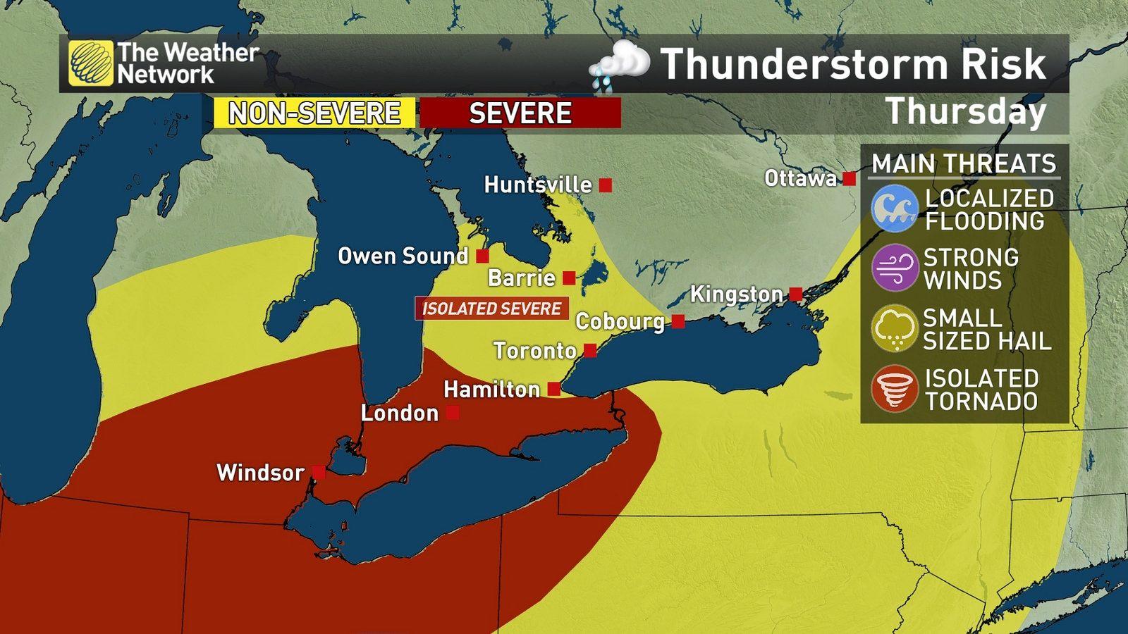 News - Monitoring: Tornado risk part of Thursday story in Ontario ...