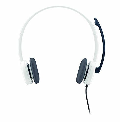 Logitech H150 Headphones With Mic White Headphones Headphone With Mic Earbud Headphones