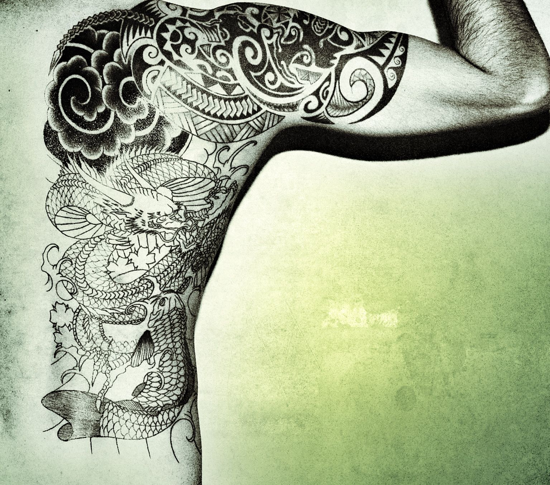 Tattoo tat maori koi fish dragon wave Wizardo wizardofozcar   Things ...