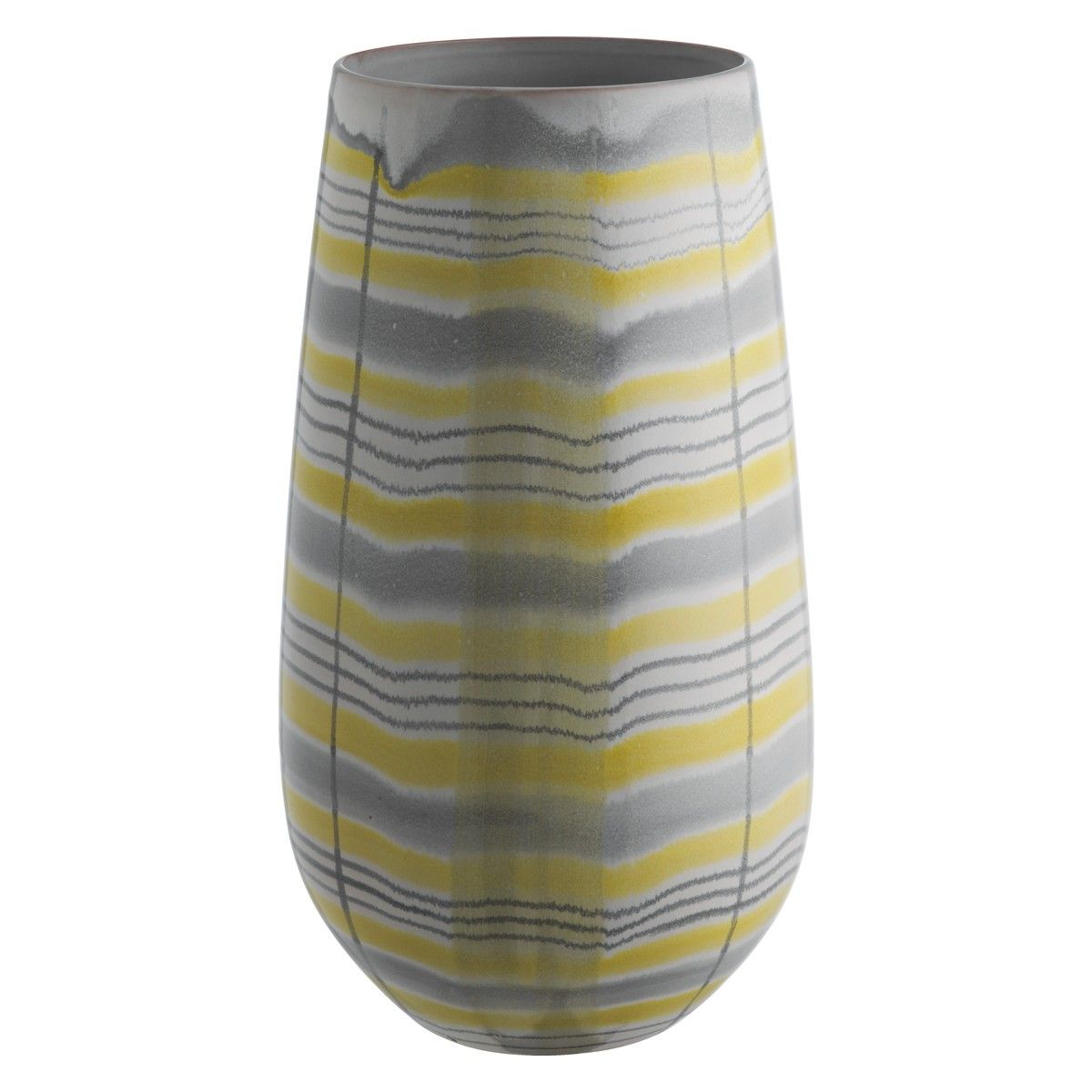 MOWAT Grey and yellow patterned vase | Buy now at Habitat UK