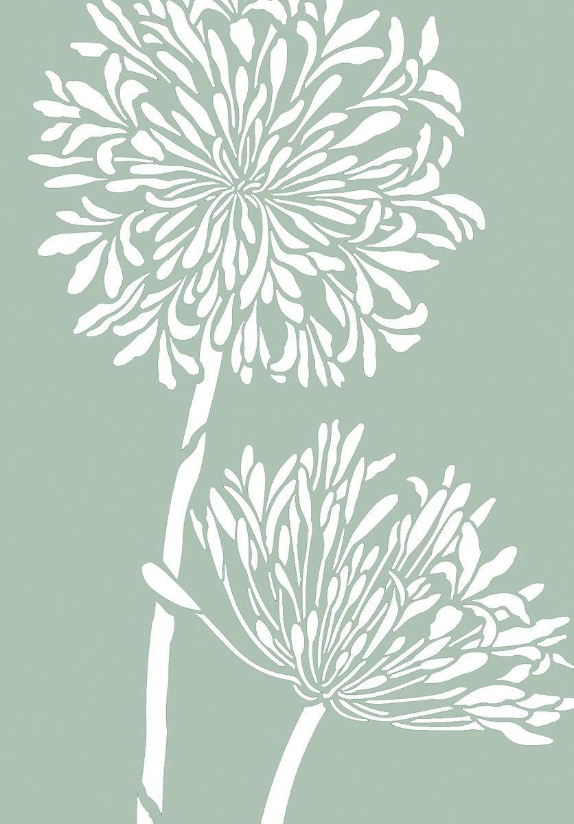 Exquisite Large 2 Sheet Flower Stencil The Large Agapanthus Stencil
