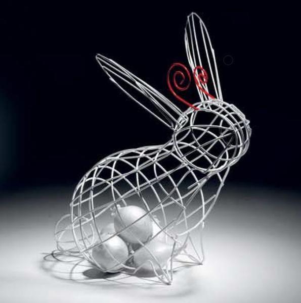 Fantastico Domestico Rabbit Basket by Seletti