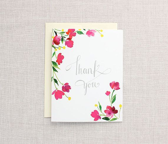 Original watercolor hand painted art thank you watercolor greeting original watercolor hand painted art thank you watercolor greeting card thank you a2 m4hsunfo Image collections