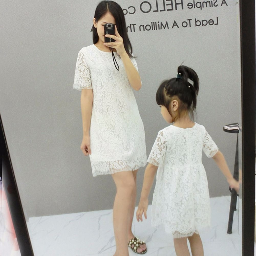 >> Click to Buy << 2017 Hot Mom and daughter dress 1-4t princess girls mother and daughter clothes lace dress family look clothing girls dresseses  #Affiliate