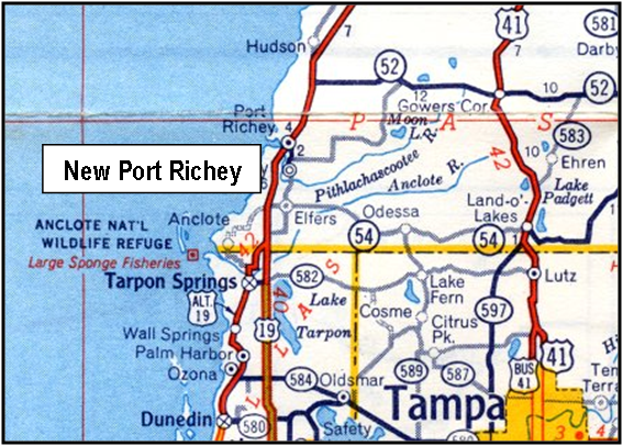 Pasco County Florida Map.New Port Richey Is A City In Pasco County Florida Finding The