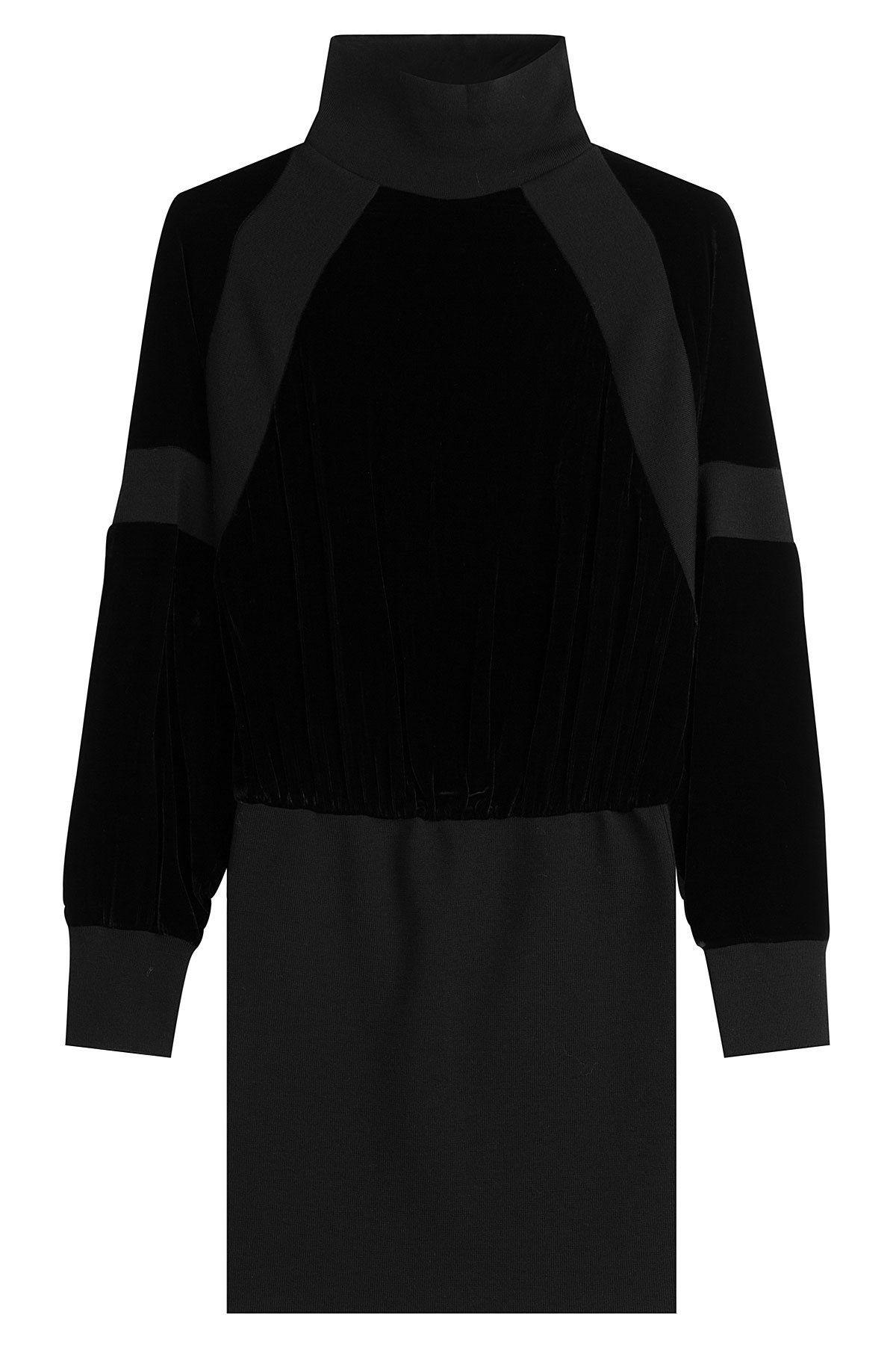 c037c70eadd DKNY - Knit Sweater Dress with Velvet