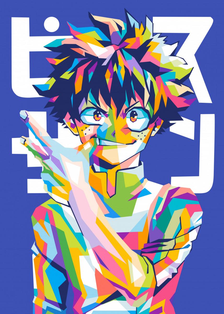 Deku My Hero Academia Poster Art Print By Namrahc Kunatip Displate In 2021 Anime Canvas Hero Wallpaper Pop Art