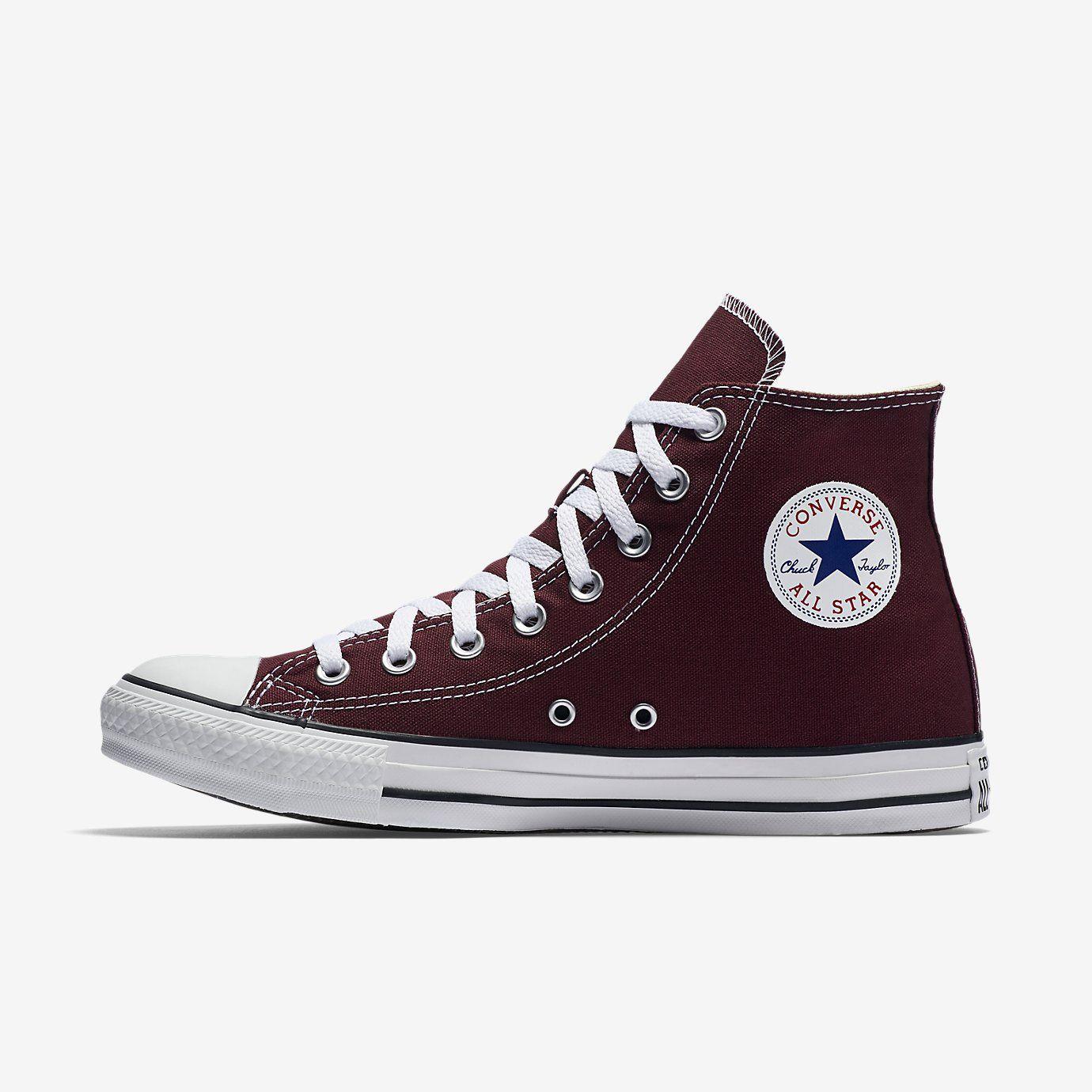 Converse Chuck Taylor All-Star Maroon Unisex Hi-Tops