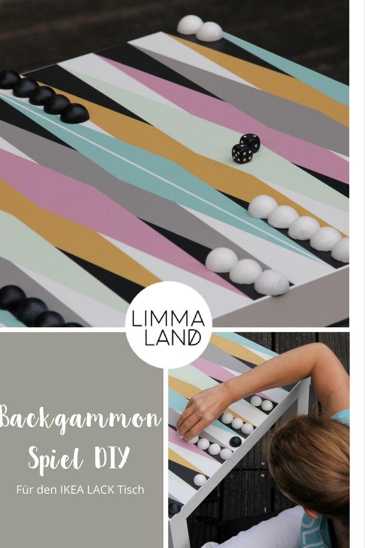 Backgammon selber machen: Dieses Design für den IKEA LACK Tisch wird ...