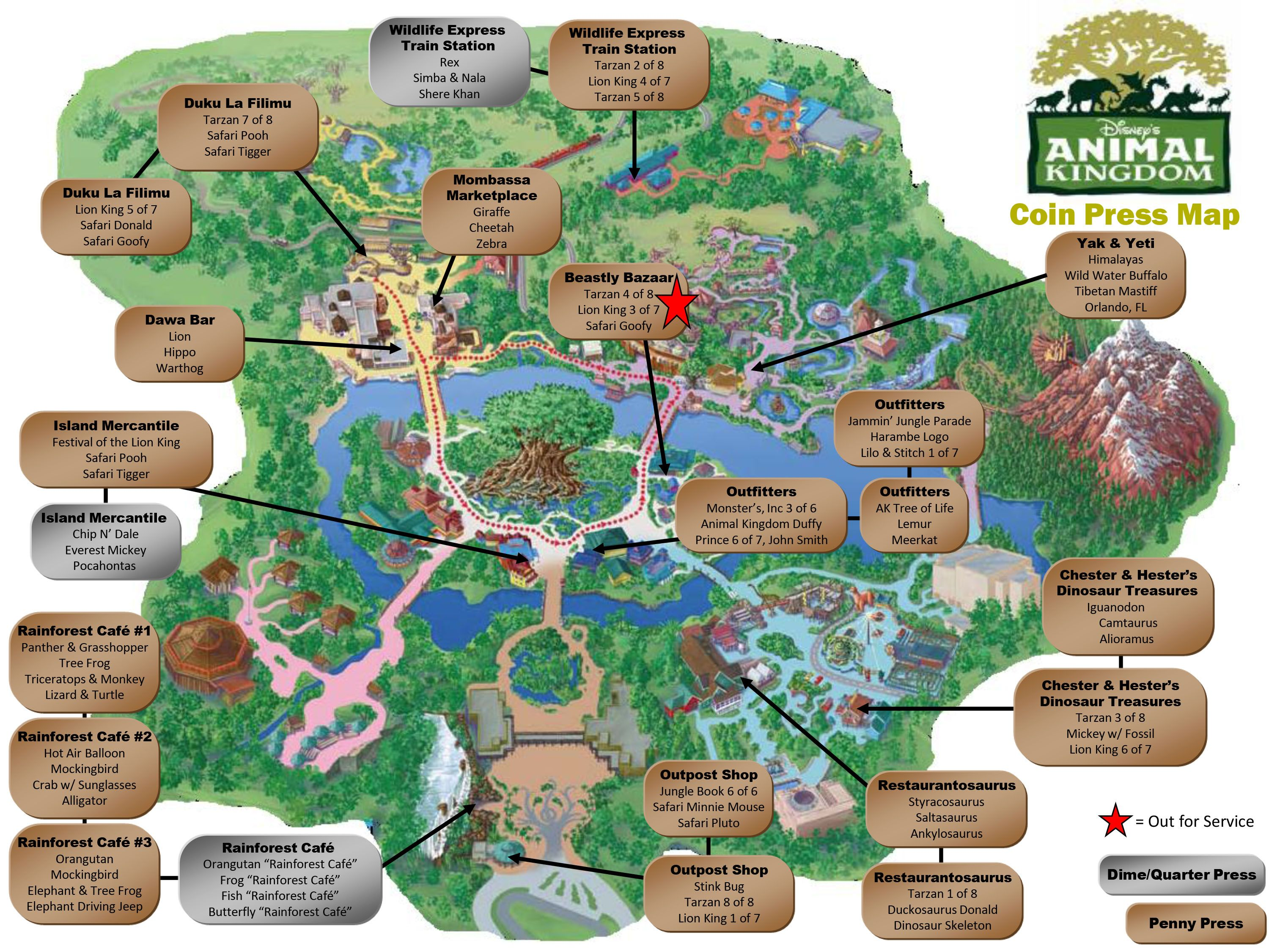This is an image of Inventive Printable Disney World Maps 2020