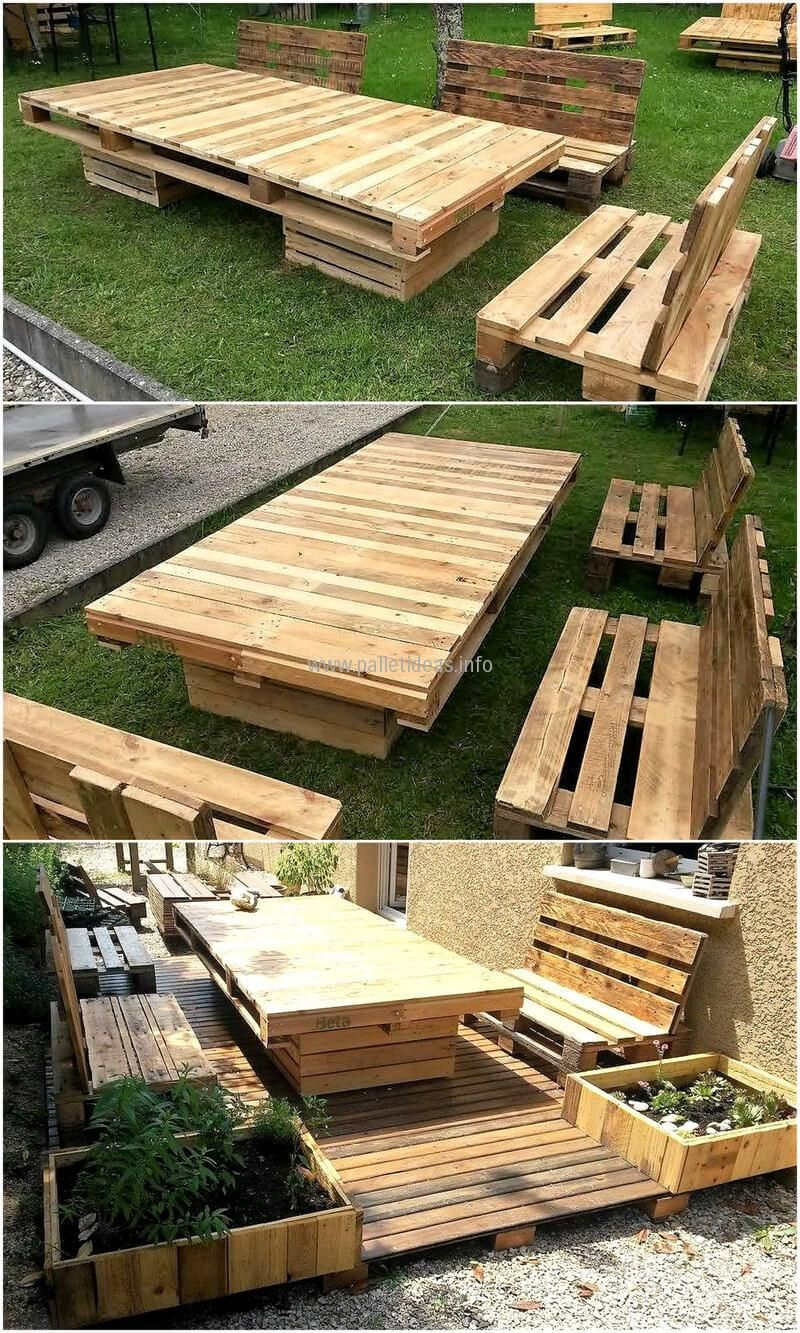Recycled pallets garden furniture UpcycledRepurposed Pallets