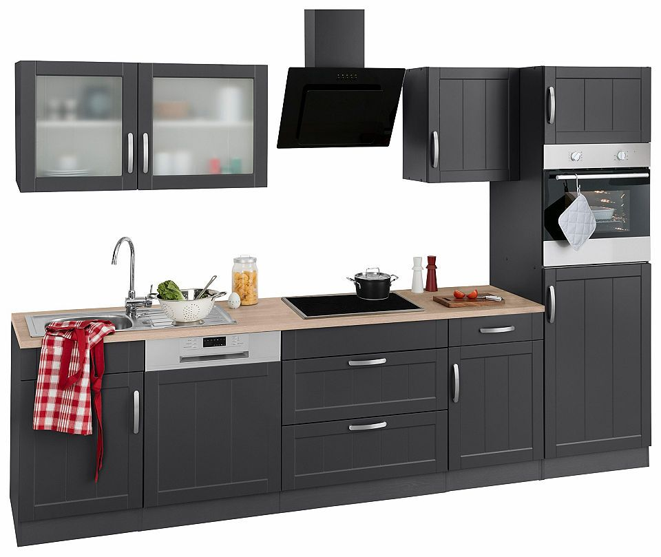 Held Möbel Küchenzeile mit E-Geräten »Lund«, Breite 300 cm Jetzt ...
