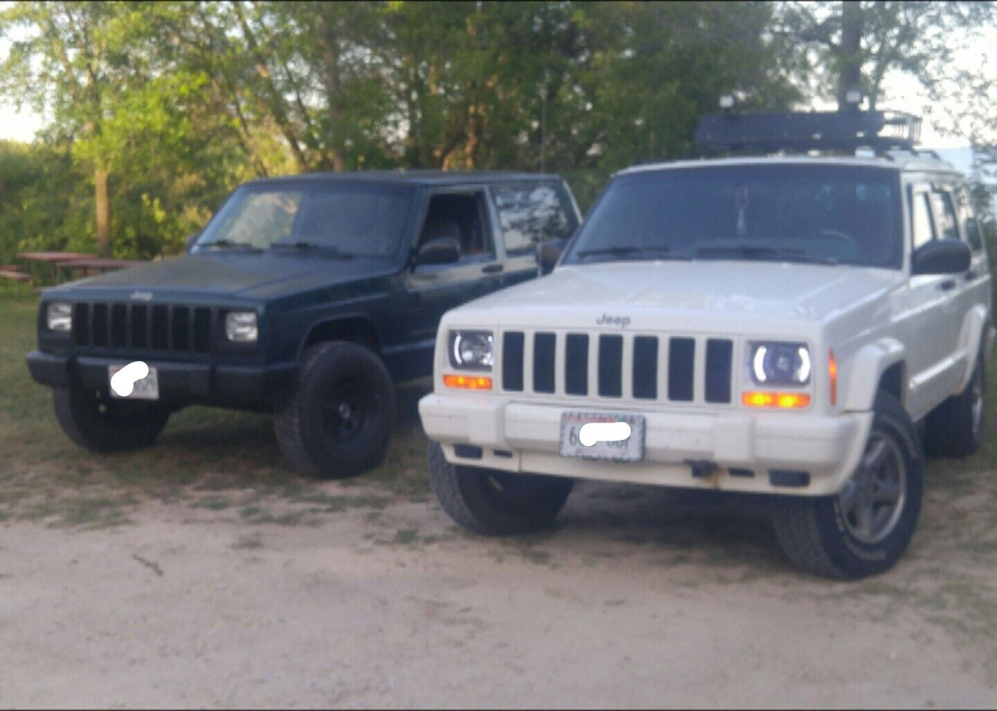 Pair Of Cherokees Jeep xj, Jeep cherokee, Offroad vehicles