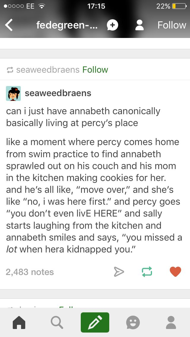 Aw percabeth living together at Sally's, this is so cute | Percy
