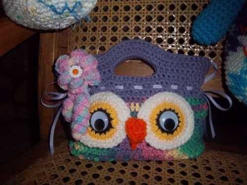 Bolsos, Carteritas De Niñas Y Muñecos Tejidos Crochet A Mano .