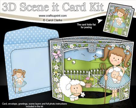 3d Girlz Lizis Lambs Scene It Card Kit Pinterest Card Kit
