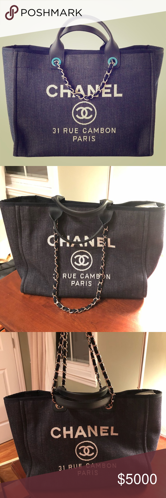 db283efed Spotted while shopping on Poshmark: CHANEL 🔥DEAUVILLE XL 🔥TOTE SHOULDER  BAG NWT! #poshmark #fashion #shopping #style #CHANEL #Handbags