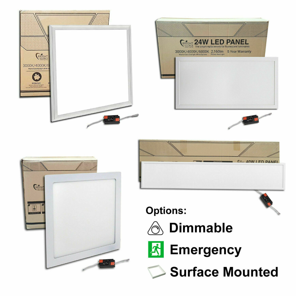 Emergency Dimmable Surface Mounted Led Panels 600x600 1200x300 1200x600 More In 2020 Led Panel Surface Paneling
