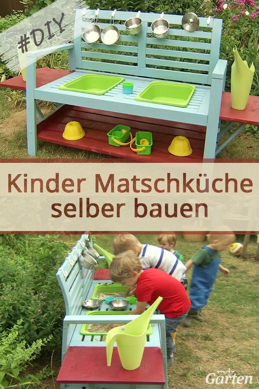 Aus Einer Bank Eine Matschkuche Bauen Kinderspielzeug Garten Selber Bauen Garten Kreative Garten Ideen