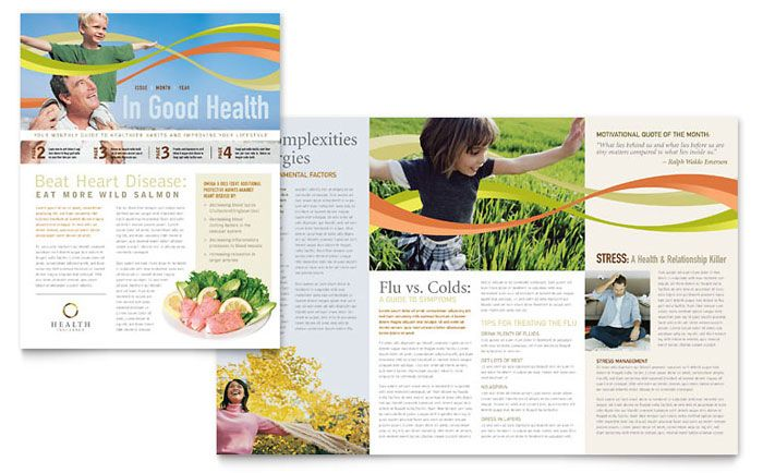 Health Insurance Company Newsletter Design Template By Stocklayouts Health Newsletter Design Newsletter Design Templates Newsletter Layout